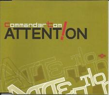 COMMANDER TOM Attention 7 REMIXES Europe CD Single SEALED USA Seller 1998