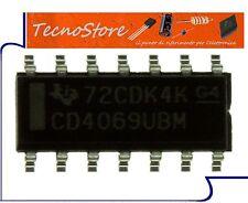IC CIRCUITO INTEGRATO  -  CD4069UBM - 4069 - CD4069 SOP-14 SMD CMOS HEX INVERTER