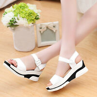 New Fashion Womens Sandals Summer Heels Platform Size Casual Shoes Wedge High