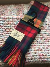 BNWT BARBOUR MULTI-COLOUR TARTAN LAMBSWOOL  CASHMERE SCARF. Unisex