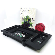 Rolling tray bundle 1 box of high hemp g ,1 high society tray, 1 plastic grinder