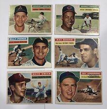 1956 topps baseball cards #6,60,160,165,279,305