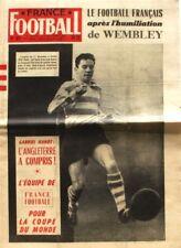 FRANCE FOOTBALL N°611-1957-GUILLOT-RC PARIS-HANOT-ANGLETERRE-WEMBLEY-REIMS-