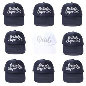Bridal Party Baseball Bride Caps Bridesmaid Hats Funny Wedding Accesories