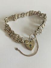 Vintage 1976 Silver Hallmarked Gate Link Bracelet Five Bar Link 14.6g London LC