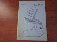 The Man Jesse Stuart 1968 First Edition SIGNED Bibliography Appalachia Books