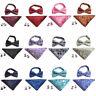 Mens Paisley Floral Tuxedo Bow Tie Cufflinks Pocket Square Handkerchiefs Set