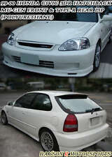 Mu-gen Style Front Lip + CTR Style Rear Lip (Urethane) Fits 99-00 Civic 3dr