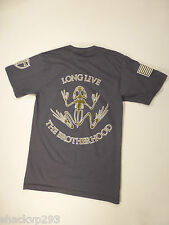Navy SEAL DEVGRU BROTHERHOOD FROG LOGO T-Shirt GREY SMALL NSW CRUSADER