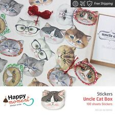 Uncle Cat Box Stickers Valentine'S Gift Crafts Mobile Decor Tools Kit 100 sheets