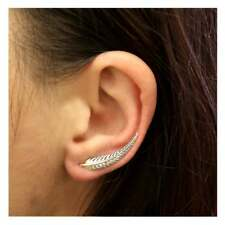 925 Sterling Silver Sweep Up Feather Ear Cuff Earring ( 1 )