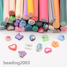 50pcs Assorted 3D Nail Art Decoration Canes Manicure Polymer Clay Sticks Tubes