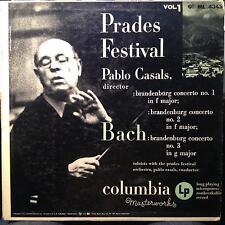 PABLO CASALS bach prades festival vol. 1 LP VG+ ML 4345 Mono US 6 Eye 50s