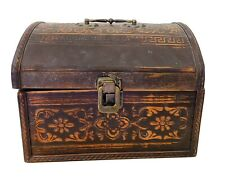 Small Brown Wooden Pirate Chest / Trunk Trinket Box / Boxes