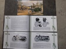 NORTON PROSPEKT 1923 BIG FOUR KOLONIAL MOTORRAD GB OLDTIMER ENGLAND 16 SEITEN !!