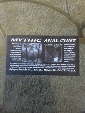 Mythic Anal Cunt Relapse Records  Advert 1991