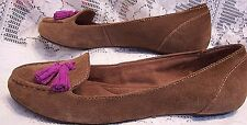Dr. Scholl's brown suede ballet flats slip on casual fashion shoes size 7
