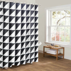 AOACreations Shower Curtain with Hooks for Bathroom Pattern Designs