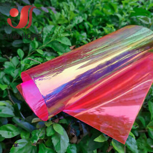 Transparent PVC Vinyl Fabric Holographic Iridescent BOW Earring Making DIY ROLL