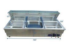 5 Pot Commercial Bain Marie Buffet Food Warmer 1 Full Size Pan And 412pan