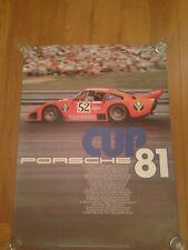 VERY RARE - PORSCHE FACTORY POSTER/PLAKATE - JAGERMEISTER Porsche 935