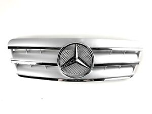 Mercedes Benz W208 CLK230 CLK320 CLK430 CLK55 Silver Grille 1997 - 2002