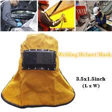 Solar Auto Darkening Filter Lens Metal Welder Leather Hood Welding Helmet Mask