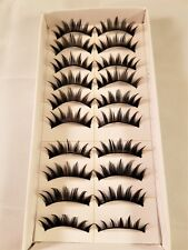 Natural Hand Made Black False Extension Eyelashes Box of 10 Sets