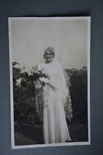 R&L Postcard: Portrait of Bride in Vintage Wedding Dress