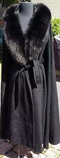 3 Day ONLY Sale  $175  Gemini vtg wool coat / cape & large black faux fur collar