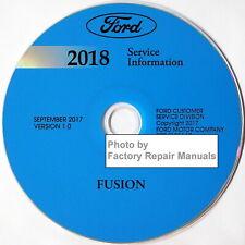 2018 Ford Fusion Gas Models Factory Service Manual CD Orig. Shop Repair Wiring