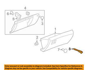 GM OEM Glove Compartment Box-Damper Shock Strut 25823631