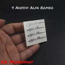 4 Mini Adesivi Alfa Romeo Silver 145 146 155 156 159 164 Mito Giulietta