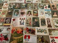 Great Lot of 100 Antique & Vintage Post Cards,Christmas,Valentine, Easter Etc-28
