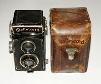 ROLLEICORD II TYPE I TLR CAMERA ZEISS TRIOTAR 75MM 3.5 LENS 1936 MADE RARE!