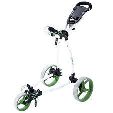 Big Max Blade + , 3 - Rad Golftrolley, ultraflach und leicht - white/lime, neu!