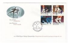 CANADA 2001 WORLD FIGURE SKATING CHAMPIONSHIPS BLOCK 4 OFFICIAL FIRST DAY COVER