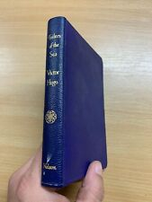 """VINTAGE VICTOR HUGO """"THE TOILERS OF THE SEA"""" FICTION FAUX BLUE LEATHER BOOK (P3)"""