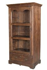 "73""  One of a Kind Violetta Colonial Teak Wood Cabinet Distressed Finish"