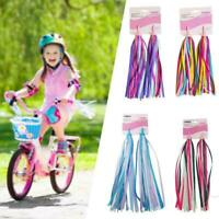1Pair Kid Bicycle Polyester Streamer Tassel Bicycle Handgrip Accessories Sc H5G1