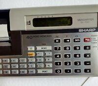 CALCOLATRICE SHARP Memowriter EL7001 Vintage Originale 70-80 -Da revisionare