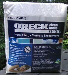 NEW Oreck Anti-Microbial - Allergy - Mattress Encasement KING Size Eco Fresh