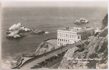 San Francisco Cliff House & Seal Rocks California Real Photo Postcard RPPC SF CA