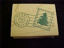 Merry Christmas Dec 25 Canceled Stamp Wood Mounted NEW