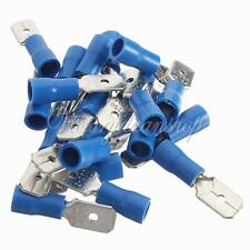 20pcs Insulated Blue Male Spade Connector Electrical Crimp Terminal 1.5-2.5mm²