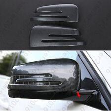 2x Carbon Fiber Side Door Rearview Mirror Cover For Benz GLK Class X204 09-2015