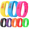 LD_ Children Silicone Strap LED Display Sports Bracelet Electronic Digital Wat