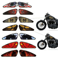 2pcs Motorcycle Fuel Tank Stickers Motorcycle Decals For Harley XL883 1200 Dyna