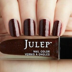 NEW! Julep nail polish PIA 0.27 Fl. Oz. ~ Spiced burgundy iridescent shimmer