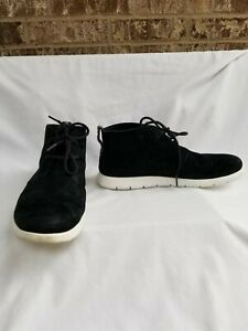 UGG Men's Dustin Chukka Lace Up Shoes Black Suede Size 9.5